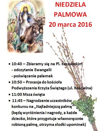 Niedziela Palmowa – 20 marca 2016