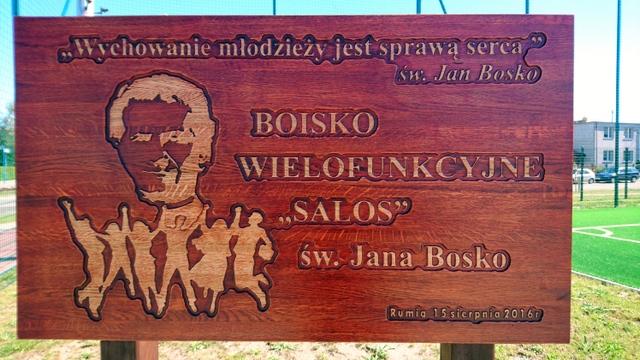 """Święto Rumi i oficjalne otwarcie Boiska ,,SALOS"""" św. Jana Bosko"""